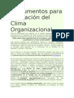 Instrumentos Para Valoración Del Clima Organizacional