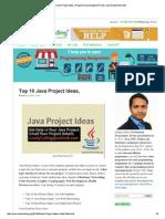 Top 10 Java Project Idea