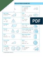 Formulas Geometry