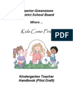 Kindergarten Teacher Handbook