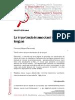 Informes Importancia Internacional Lenguas