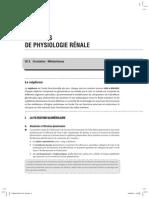 Elements de physiolgie rénale