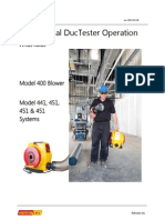 Manual DucTester Operation