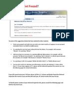 I-94 Form Error Deferred Inspection Sites
