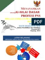 Nilai Dasar Profesi PNS
