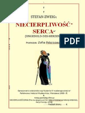 Niecierpliwość Sercastefan Zweig