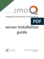 MemoQ Server Installation Guide