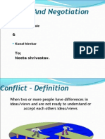 Conflicts and Negotiation