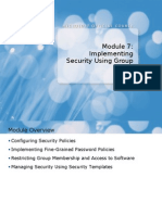 6425A_07 Group Policy for Security Implement
