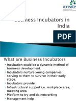 Business Incubators in India