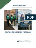 2015-2016 Welcome Guide - Doctor of Medicine Program