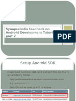SynapseIndia Feedback on Android Development Tutorial Part 2