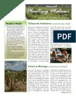 Planting Malawi February 2010 newsletter