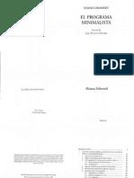 CHOMSKY El Programa Minimalista ENTERO