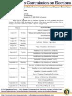 Memo 201530 - Ateneo COMELEC Calendar for SY 2015-2016, 1st Semester