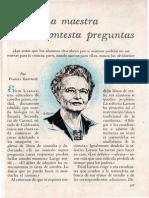 La Maestra Que No Contesta Preguntas-selecciones 1957