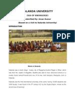 Summer Project on Nalanda