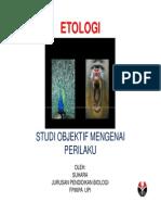 Ch.1 ETOLOGI