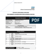Antibiotic Prescribing Guidelines October 2014