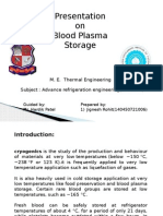 Blood Plasma Storage