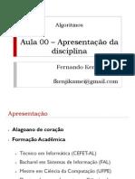 Algoritmos - Apresentação da Disciplina