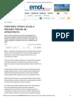 Historiador Chileno Acusa a Salvador Allende de Antisemitismo