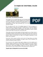 Los Cuatros Viajes de Cristóbal Colón
