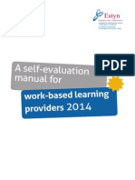 A Self-evaluation Manual for Work-based Learning Providers 2010 (1)