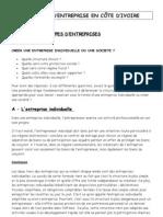Creation d Entreprise en Cote d Ivoire