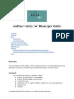 Aadhaar Hackathon Developer Guide