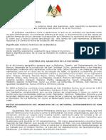 Monografía Del Municipio de La Reforma, S.M.