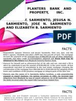Planters v. Sps Sarmiento