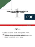 Recuperación de Datos Mediante La Sentencia SQL SELECT
