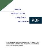 Libro Nomenclatura Química Heterocíclica