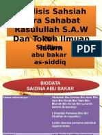 Saiyidina Abu Bakar/ SAIDINA ABU BAKAR