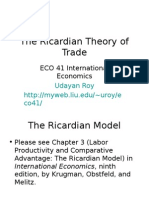 Ricardian Theorm Analysis