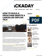 How to Build a ProxyHam