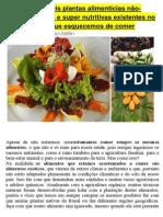 As Incríveis Plantas Alimentícias Não-convencionais e Super Nutritivas Existentes No Brasil Que Esquecemos de Comer