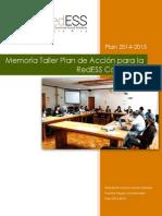 Memoria Taller Plan RedESS 18-8-14
