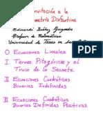 invitacion a la geometria Diofantina