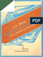 82481412 Herder Filosofia de La Historia Para La Educacion de La Humanidad 1
