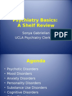 Psychiatry - Shelf Review