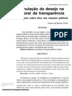 Anulação do desejo na moral da transparência