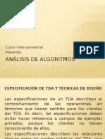 4. Especificación de TDA Técnicas de Diseño