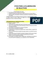 REACTIVOS Guía Para Hacer Examenes