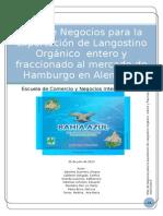 Plan de Negocios Para La Exportación de Langostino Orgánico Entero y Fraccionado Al Mercado de Hamburgo en Alemania