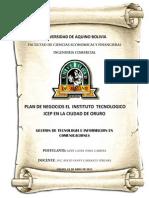 Plan de Negocios DE INSTITUTO PARA PRINCIPIANTES