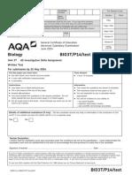 Aqa Bio3t p14 Test Jun14