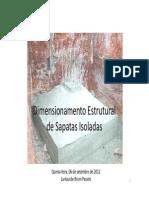 112503525 Dimensionamento Estrutural de Sapatas Isoladas