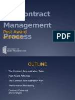 The Contract Management Process Post Award